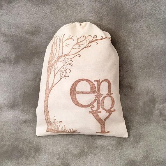 Personalized Silhouette Burlap Favor Bag Wedding