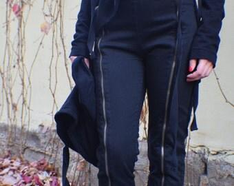 Black Pants, Womens Pants, Steampunk Clothing, Gothic Clothing, Gothic Pants, Festival Pants, Gothic Lolita, Futuristic Clothing, Sexy Pants