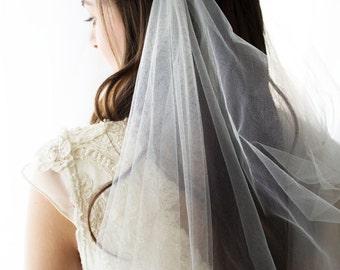 Draped veil, drape veil, ivory draped veil, tulle veil, wedding veil with crystals, wedding veil, wedding veil cathedral, bridal veil
