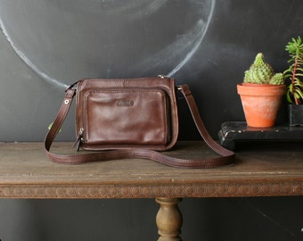 Vintage Brown Leather Crossbody Purse Fossil Brand Bohemian Fashion Chocolate Color Vintage From Nowvintage on Etsy