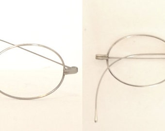 john lennon glasses true antique spectacles eyeglass frame steampunk optical saddle bridge white gold metal steve jobs harry potter nos