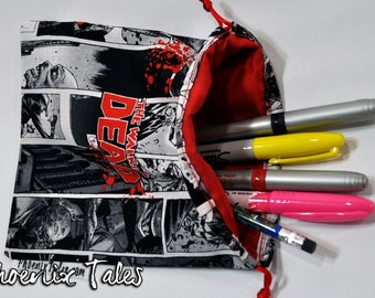 The Walking Dead Drawstring Pouch or Dice Bag