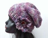 Warm Wool Slouchy Hat - Knitted - Winter wear