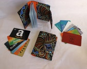 card holder wallet - small photo album - loyalty card holder - loyalty card organizer - business card holder - coupon organizer small wallet