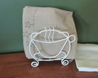 Napkin Holder Wire Steaming Coffee Cup