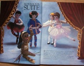 Vintage 80s McCalls Christmas knit Crochet patterns vol. 25 - crochet NUTCRACKER SUITE, knit Barbie fashion doll clothes, afghans and more
