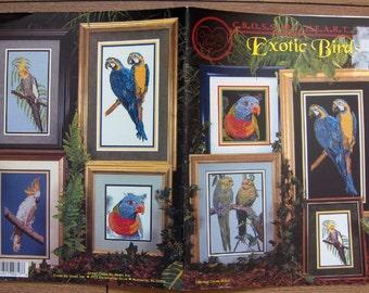 1997 cross stitch pattern birds EXOTIC BIRDS