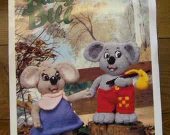 vintage 1990 Sirdar knitting pattern BLINKY BILL