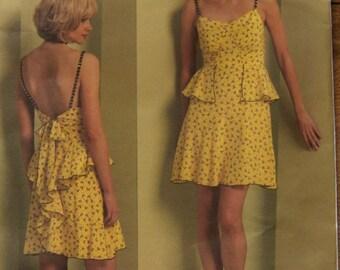 2009 Vogue pattern 1105 Misses dress close fitting above knee  sz 12-14-16-18  uncut Anna Sui