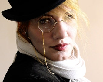 Gothic Monocle , Cosplay Monocle , Monocle , Steampunk Monocle , Steampunk , Halloween Costume , Costume , Gold Monocle , Clear Monocle