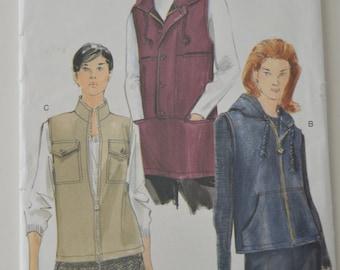 Vogue 7124 Pattern - Misses Vest - UNCUT - Sizes 8 - 10 - 12