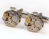 Steampunk Vintage Watch Movement Cuff Links