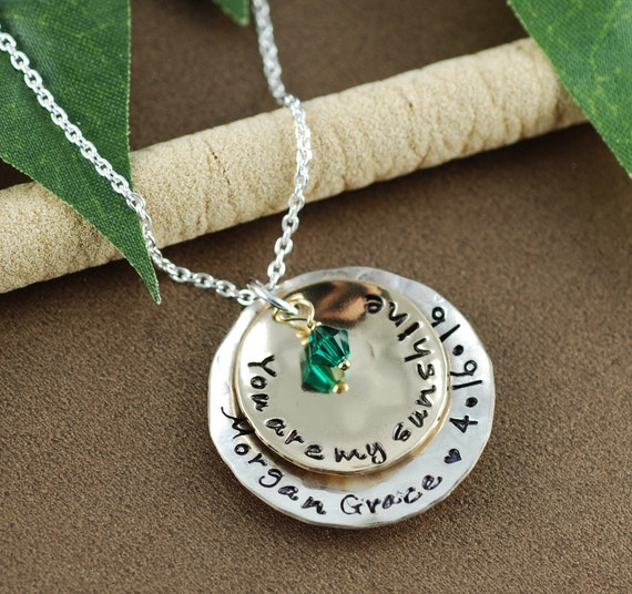 You are my sunshine personalized necklace