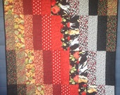 Red and Black couch quilt...
