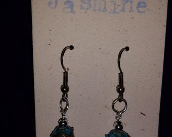 Painted Bead Earrings