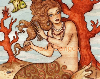 CORAL and PEARLS limited edition fantasy art print