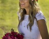 Selena Floral Crown Silk ...