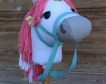 "Unicorn Stick Horse Mustang Collection ""Caprice"" Stick Horse or Pony Ready to Ride Unicorn"