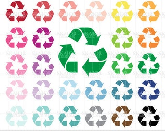 Recycle clip art | Etsy