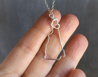 New Hampshire Necklace - New Hampshire State Necklace - State Necklace - State Outline Necklace - New Hampshire Outline