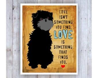 Affenpinscher Art, Affenpinscher Print, Dog Lover Art, Affen, Affen Monkey, Monkey Dog, Dog Lover Art, Dog Lover Gift, Small Breed Dog