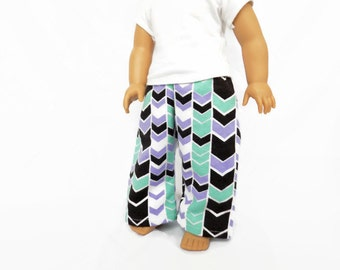 18 Inch Doll Pajama Pants, Chevron Pajama Pants, 18 Inch Doll Clothes