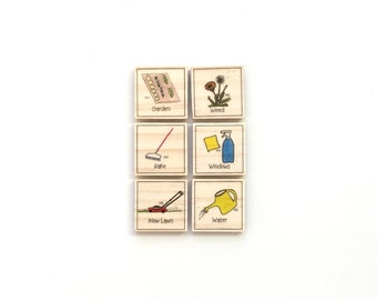 Outdoor - Chore Magnet Set of 6 - Chore Chart Magnets