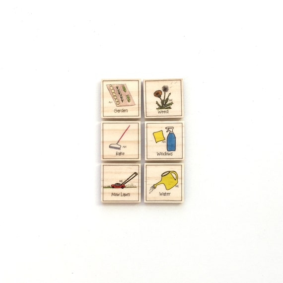 Outdoor Chore Magnet Set of 6 - Chore Chart Magnets