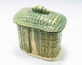 Hand Built Ceramic Box With Lid Textured Pottery Ceramic Box With Lid Studio Pottery Handbuilt Whimsical Ceramic Sculptural Box