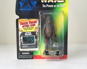 Vintage Star Wars Action Figure, Chewbacca, Return of the Jedi, Wookie - Star Wars Gift for Dad, Fathers Day Gift, Kids Toy, Star Wars Toy
