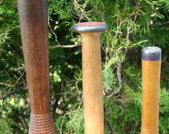 3 Vintage Thread Spools - Thread Bobbins