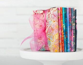 Benartex Bali Batiks Rainbow Light Pre-Cuts! Fat Quarter Fabric Sampler--100% Cotton