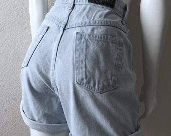 Vintage Women's 90's Gitano, Jean Shorts, High Waisted, Denim (XL)
