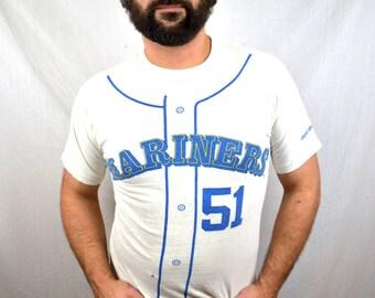 RARE Vintage Seattle Mariners Randy Johnson MLB  Baseball Tee Shirt Tshirt