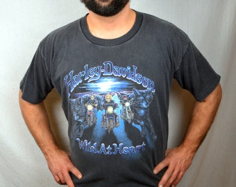 Vintage 90s Harley Davidson 1994 Tshirt Tee Shirt