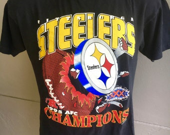 Pittsburgh Steelers 1995 AFC Champions vintage tshirt size large