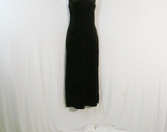 Little Black Dress Long Velvet Sheath Dress Multi Functional Chic Glam Party Dress ML