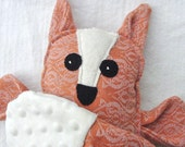 Plush Fox - Handmade - Oscha Nouveau Barley Wrap Scrap and Minky - Pillow Plush
