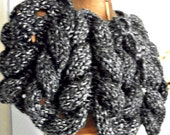 Braided poncho, Black and Grey, Women/Teens by AngelAndFairyDesigns on Etsy.com