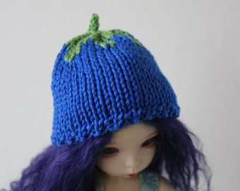 "Cute Blueberry hat for Littlefee / Enyo, Unoa or other 6-7"" head doll"
