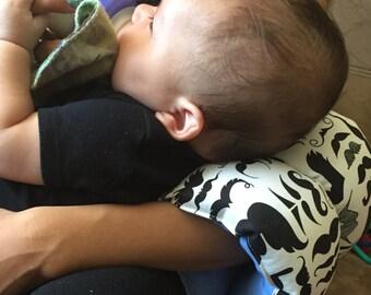 Mustache nursing pillow/ arm pillow