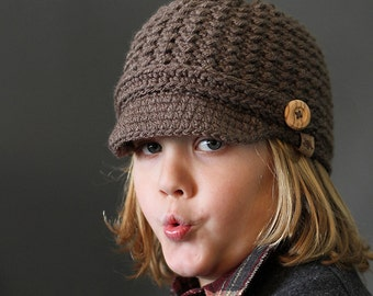 Crochet PATTERN Brookside Newsboy Cap Crochet Newsboy Pattern for Babies, Boys, Girls, Teens, Ladies and Men