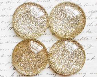 Glass Magnets - Magnets - With Gold - Office - Gold Office Supplies - Decorative Magnets - Gold Magnets - Champagne