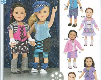 "18"" Doll Clothes Pattern by Simplicity #1087, Brand new and uncut"