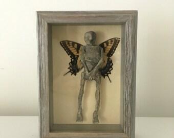 Fairy Mummy shadowbox-Halloween Sideshow Gaff Mummified Specimen