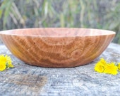 Wood Bowl, Alluring Red Cherry Bowl, Salad Bowl, Fruit bowl, Bread bowl, hand turned.  Red Cherry,  Collectable. Charming
