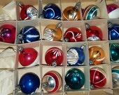 21 Vintage Mini Mercury Glass Christmas Ornaments Bulbs Poland