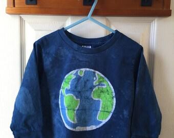 Kids Earth Shirt (4T), Kids Earth Day Shirt, Boys Earth Shirt, Girls Earth Shirt, Toddler Earth Day Shirt, Batik Earth, Planet Earth Shirt