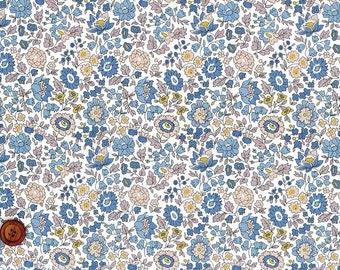 D'anjo, Liberty Tana Lawn Fabric, Liberty of London, Liberty Japan, Cotton Print Scrap, Romantic Floral Design, Quilt, Patchwork, kt2265e