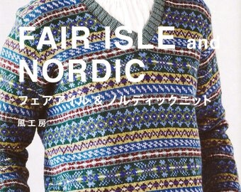 FAIR ISLE and NORDIC by Kazekobo (Japanese craft book, Japanese knitting book)